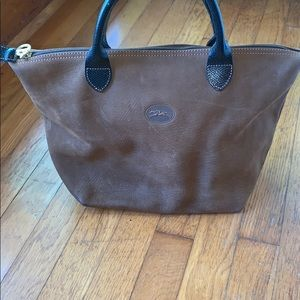 Vintage Longchamp leather purse w suede interior